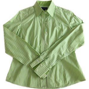 McLaughlin Women's Size 2 Button Front Shirt Green